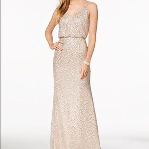 {Adrianna Papell} Sequined Blouson Gown